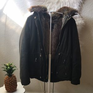 F21 Hooded Faux Parka